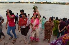 Фестиваль идолов-Durga глины Индии s стоковое изображение rf