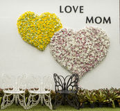 Фестиваль матери сердца знамени Стоковое Изображение RF