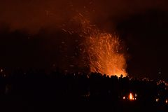 Фестиваль огня Beltane Стоковое фото RF