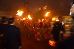 Фестиваль огня Kurama в Японии Стоковая Фотография RF