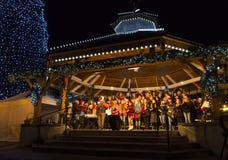 Фестиваль освещения рождества в Leavenworth, WA. Стоковые Изображения RF
