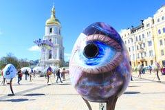 Фестиваль пасхального яйца в Киеве, Украине Стоковое Изображение RF