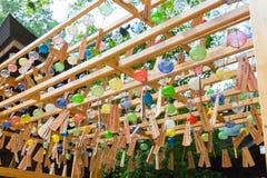 Фестиваль перезвона ветра святыни Kawagoe Hikawa стоковое фото