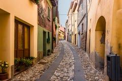 Фестиваль покрашенной стены в Dozza стоковое фото