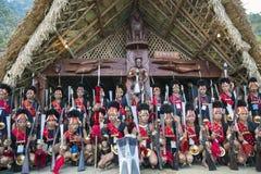 Фестиваль птицы-носорог Nagaland, Индии Стоковые Изображения RF