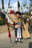 Фестиваль птицы-носорог Nagaland, Индии Стоковые Фото