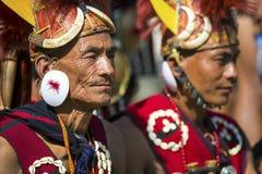 Фестиваль птицы-носорог Nagaland, Индии Стоковое Фото