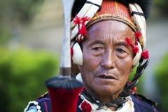Фестиваль птицы-носорог Nagaland, Индии Стоковая Фотография