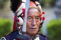 Фестиваль птицы-носорог Nagaland, Индии Стоковое Изображение