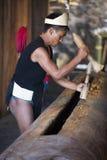 Фестиваль птицы-носорог Nagaland, Индии Стоковое Изображение RF