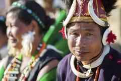 Фестиваль птицы-носорог Nagaland, Индии Стоковые Фотографии RF