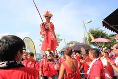 Фестиваль 2015 плюшки Гонконга Cheung Chau стоковая фотография