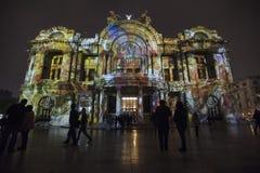 Фестиваль света в Bellas Artes стоковые фотографии rf
