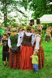 Фестиваль середины лета в парке Verkiai в Вильнюсе в Литве Стоковые Фото