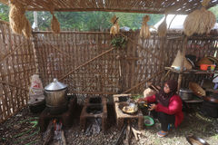 Фестиваль традиционного cookware кулинарный Стоковая Фотография