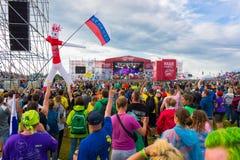 Фестиваль утеса Стоковые Фото