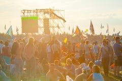 Фестиваль утеса Стоковые Изображения RF