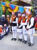 Фестиваль улицы, Азия Непал Стоковое Изображение RF