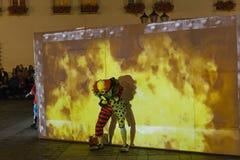 Фестиваль уличного театра в Кракове Стоковое Изображение