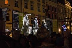 Фестиваль уличного театра в Кракове Стоковые Изображения