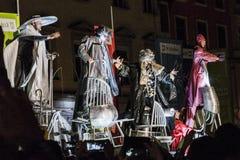 Фестиваль уличного театра в Кракове Стоковые Изображения RF
