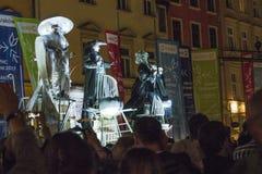 Фестиваль уличного театра в Кракове Стоковое фото RF