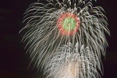 Фестиваль фейерверков лета Иокогама Twilight стоковая фотография