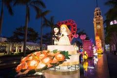 Фестиваль фонарика весны в Гонконге Стоковые Фото