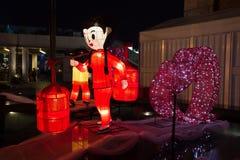 Фестиваль фонарика весны в Гонконге Стоковое фото RF