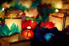 Фестиваль фонарика воды Стоковая Фотография RF