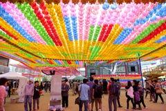Фестиваль фонарика лотоса Кореи Стоковое Изображение RF