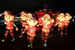 Фестиваль фонарика, Тайбэй, Тайвань Стоковая Фотография