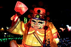 Фестиваль фонарика, Тайбэй, Тайвань Стоковое Изображение RF