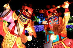 Фестиваль фонарика, Тайбэй, Тайвань Стоковые Фото