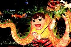 Фестиваль фонарика, Тайбэй, Тайвань Стоковые Изображения RF