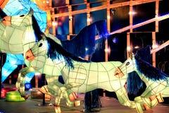 Фестиваль фонарика, Тайбэй, Тайвань Стоковые Изображения