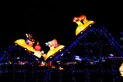 Фестиваль фонарика, Тайбэй, Тайвань Стоковые Фотографии RF