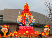 Фестиваль фонарика, Чэнду, Китай в 2015 Стоковые Изображения