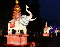 Фестиваль фонарика, Чэнду, Китай в 2015 Стоковые Изображения RF
