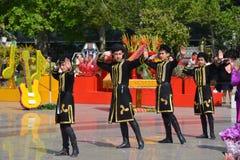 Фестиваль цветков в городе Баку, Азербайджане Стоковое Изображение RF