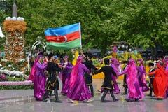 Фестиваль цветков в городе Баку, Азербайджане Стоковое Фото
