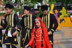 Фестиваль цветков в городе Баку, Азербайджане Стоковая Фотография