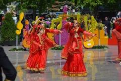 Фестиваль цветков в городе Баку, Азербайджане Стоковое фото RF