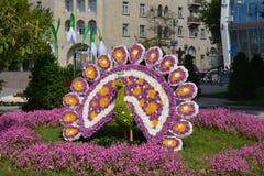 Фестиваль цветков в городе Баку, Азербайджане Стоковая Фотография RF