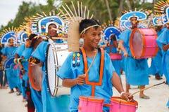 Фестиваль ATI-Atihan на Boracay, Филиппинах Отпразднованное каждое Стоковая Фотография RF