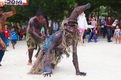 Фестиваль ATI-Atihan на Boracay, Филиппинах Отпразднованное каждое Стоковые Изображения
