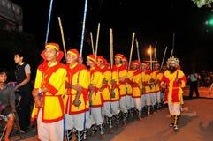Фестиваль Cau Ngu в Вьетнаме, который также вызван фестивалем Кита, самый большой фестиваль для рыболова который требует для wind Стоковые Изображения