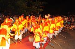 Фестиваль Cau Ngu в Вьетнаме, который также вызван фестивалем Кита, самый большой фестиваль для рыболова который требует для wind Стоковая Фотография RF