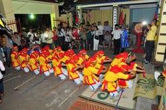 Фестиваль Cau Ngu в Вьетнаме, который также вызван фестивалем Кита, самый большой фестиваль для рыболова который требует для wind Стоковые Фото