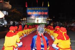 Фестиваль Cau Ngu в Вьетнаме, который также вызван фестивалем Кита, самый большой фестиваль для рыболова который требует для wind Стоковое Фото